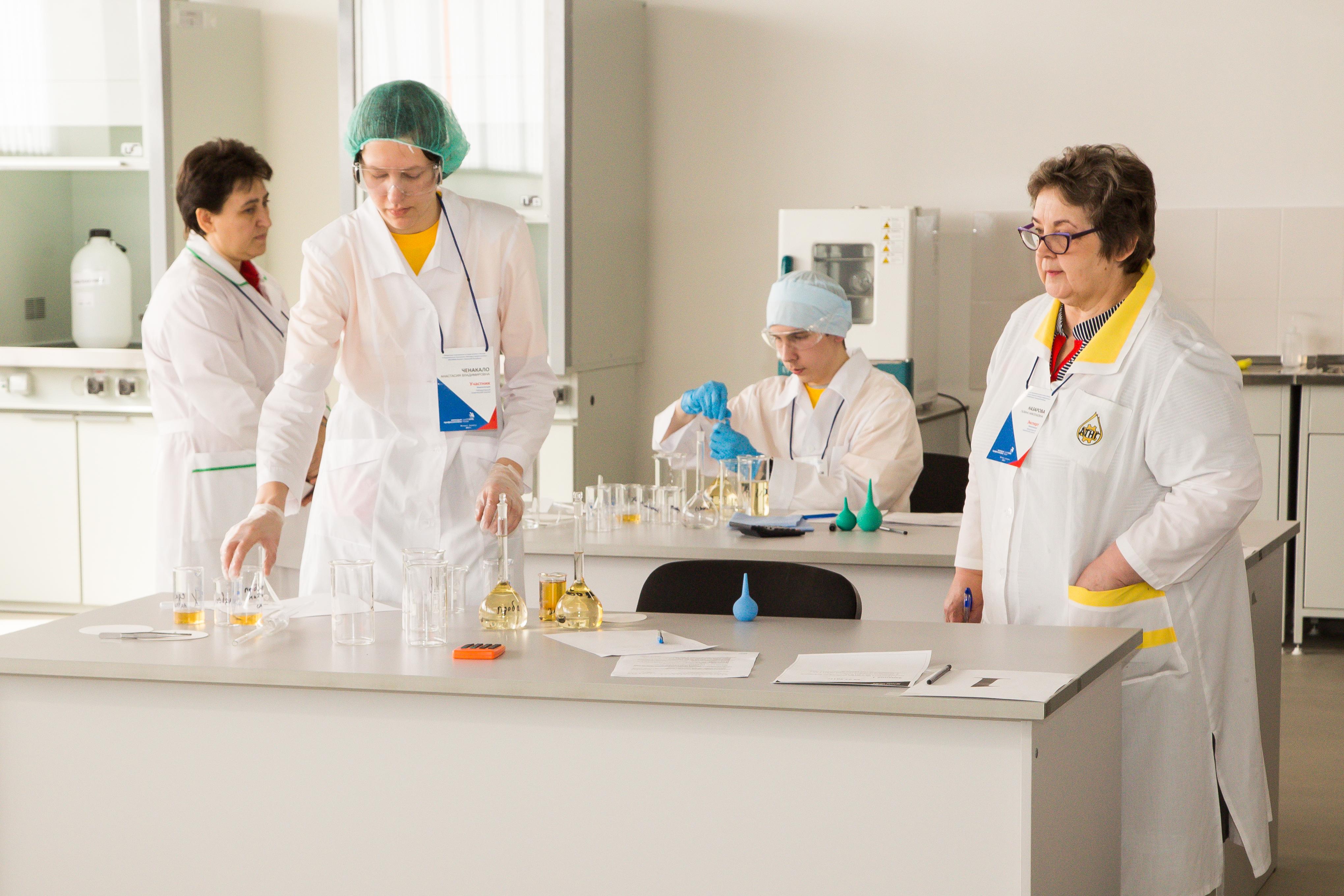 Завершились конкурсные испытания участников Отборочных соревнований  по компетенции «Лабораторный химический анализ»