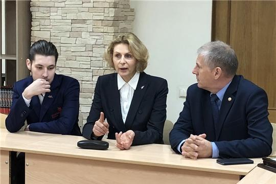 Министр образования и молодежной политики Чувашской Республики поздравил призера мирового чемпионата WorldSkills 2019